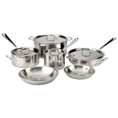 all-clad stainless steel gourmet cookware set