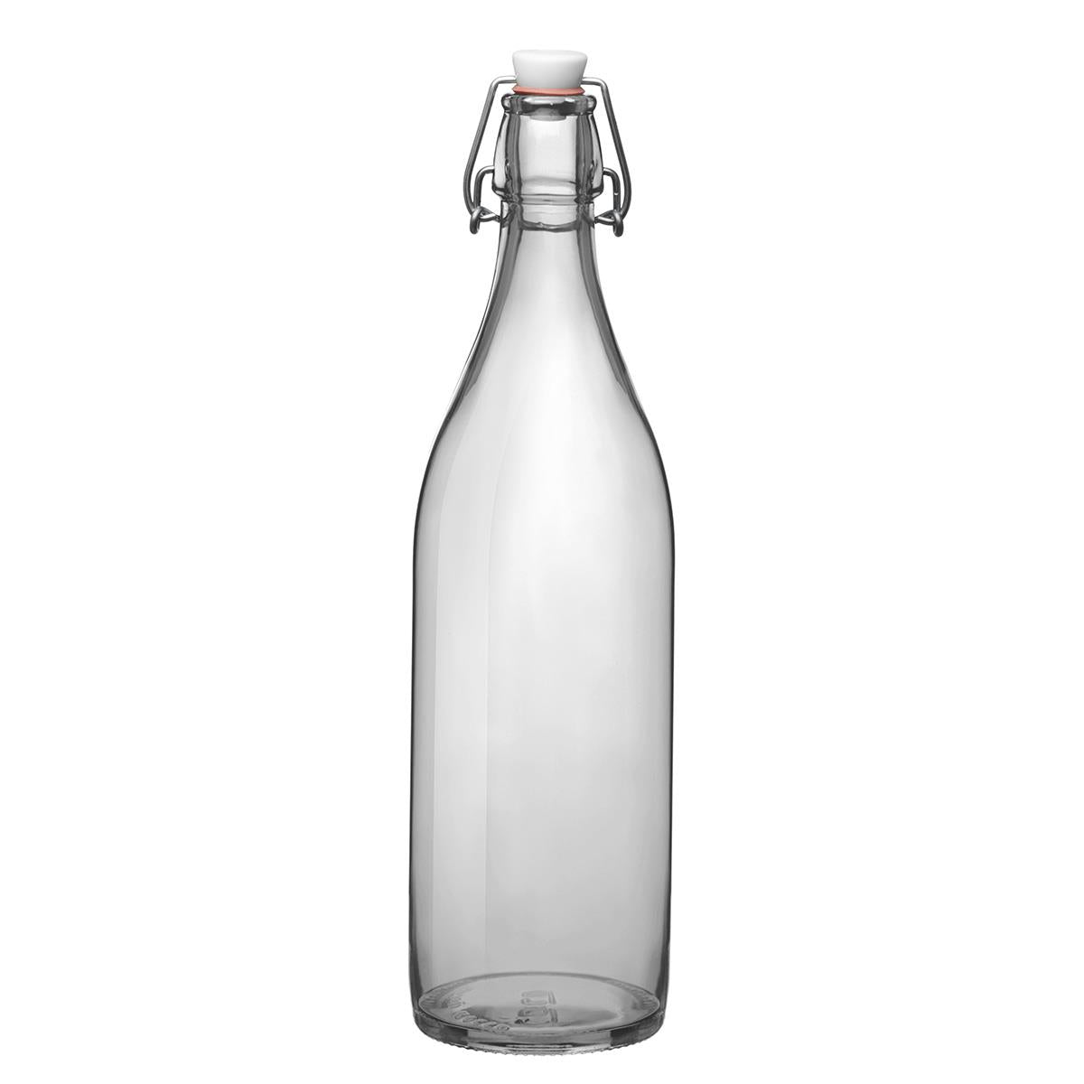 Bormioli Giara Glass Bottle, Clear