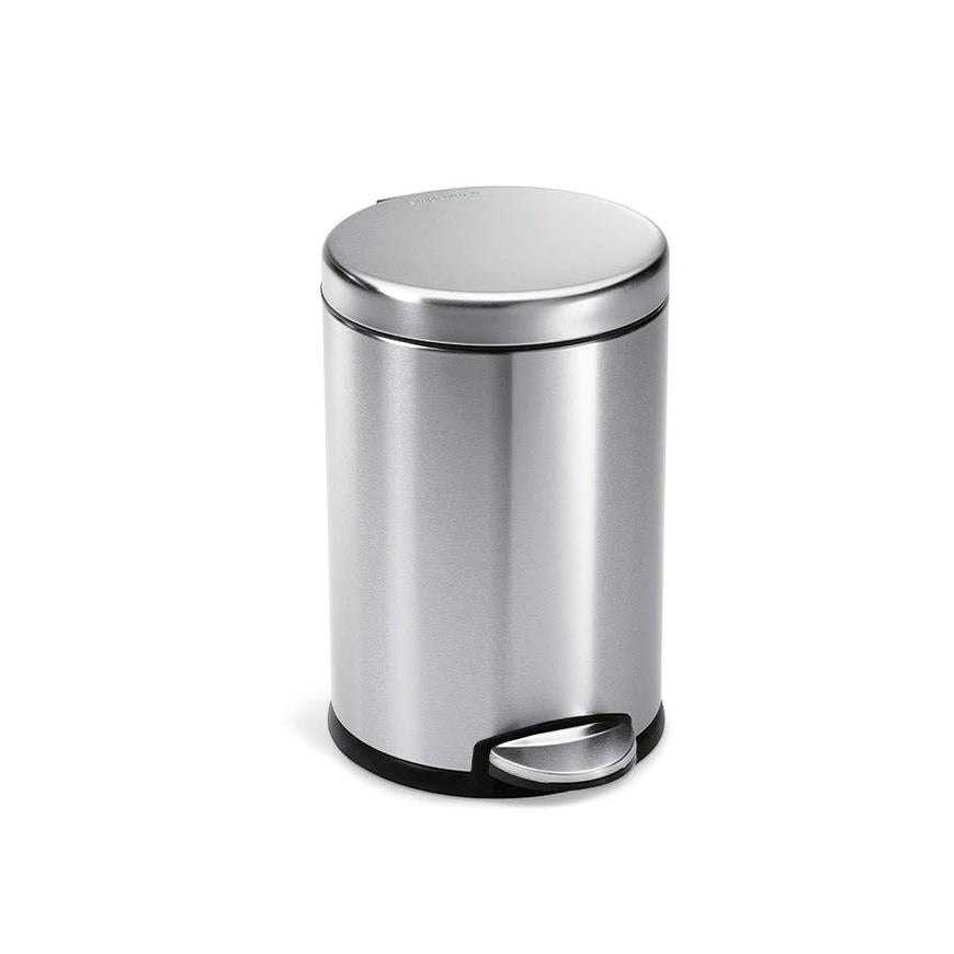 simplehuman round step can 4.5l stainless steel