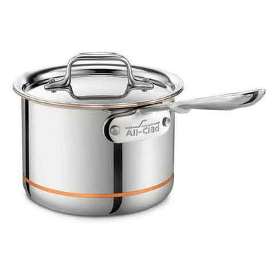 all-clad copper core sauce pan with lid 2qt