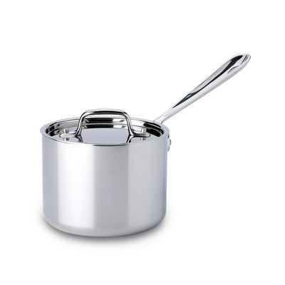 all-clad stainless steel sauce pan with lid 2qt