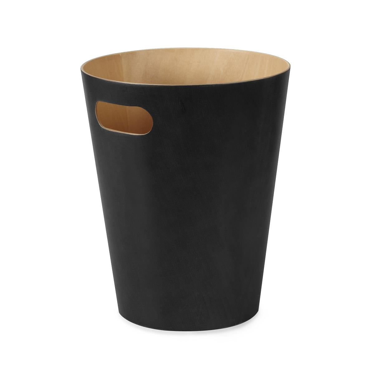 Umbra Woodrow Waste Can Black