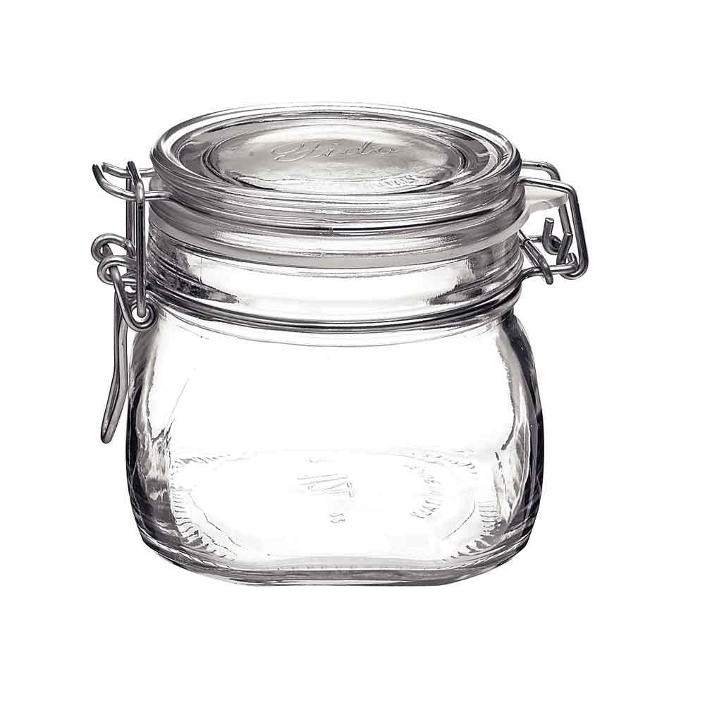 Bormioli Fido Glass Jar with Clasp Lid, 19oz