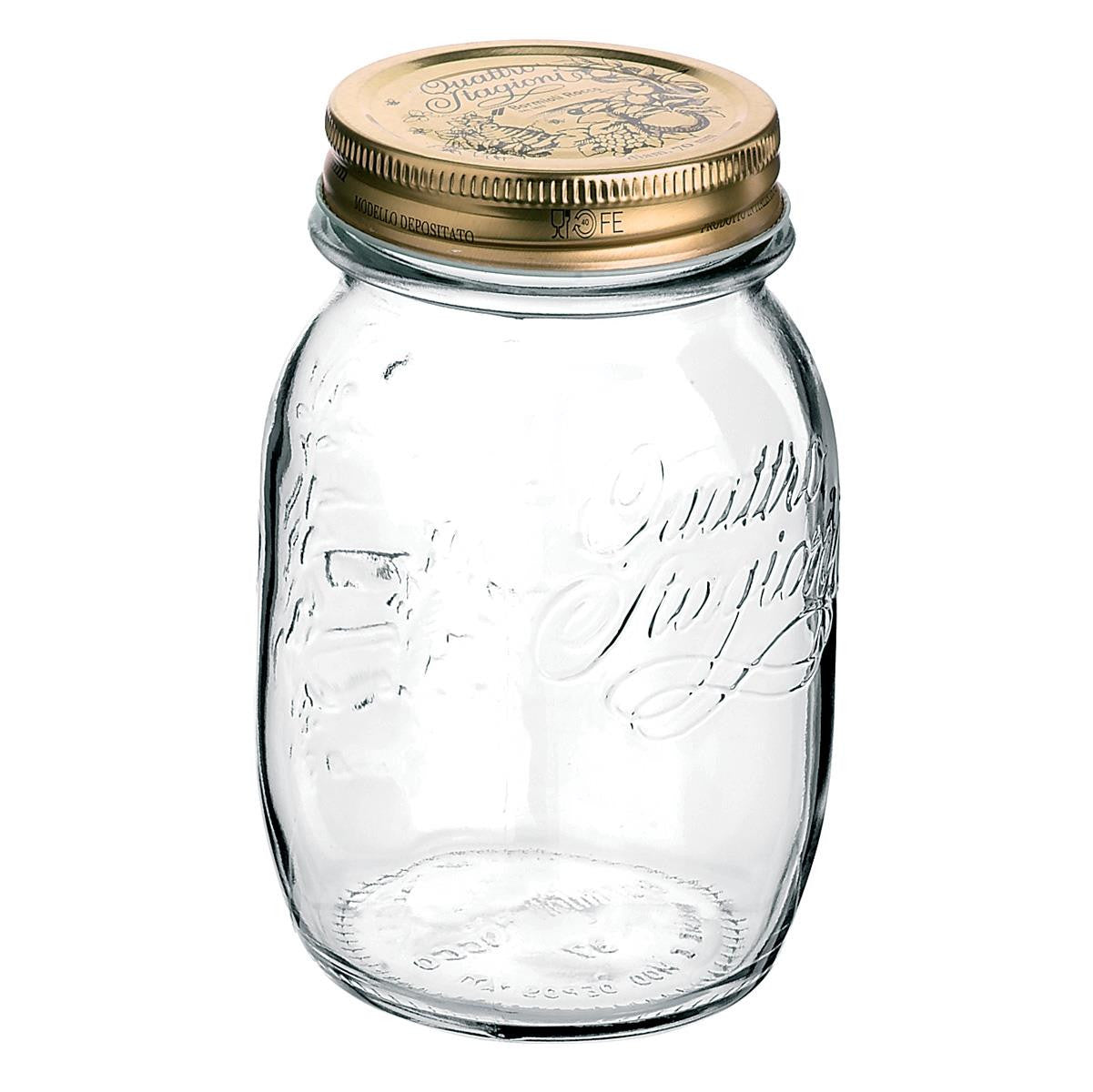 Bormioli Quattro Stagioni Glass Jar with Lid 17oz