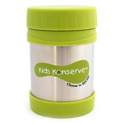 U Kids Konserve 12oz Insulated Stainless Steel Food Jar green