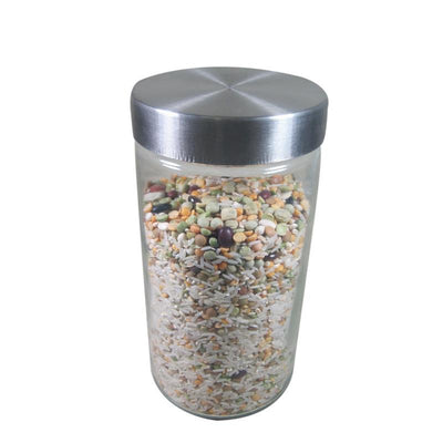 Port-Style Glass Canister with Stainless Steel Lid 1.7l