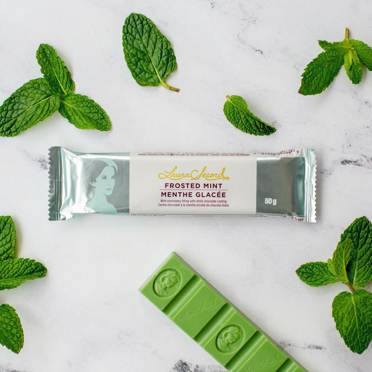 Laura Secord Milk Chocolate Frosted Mint Bar