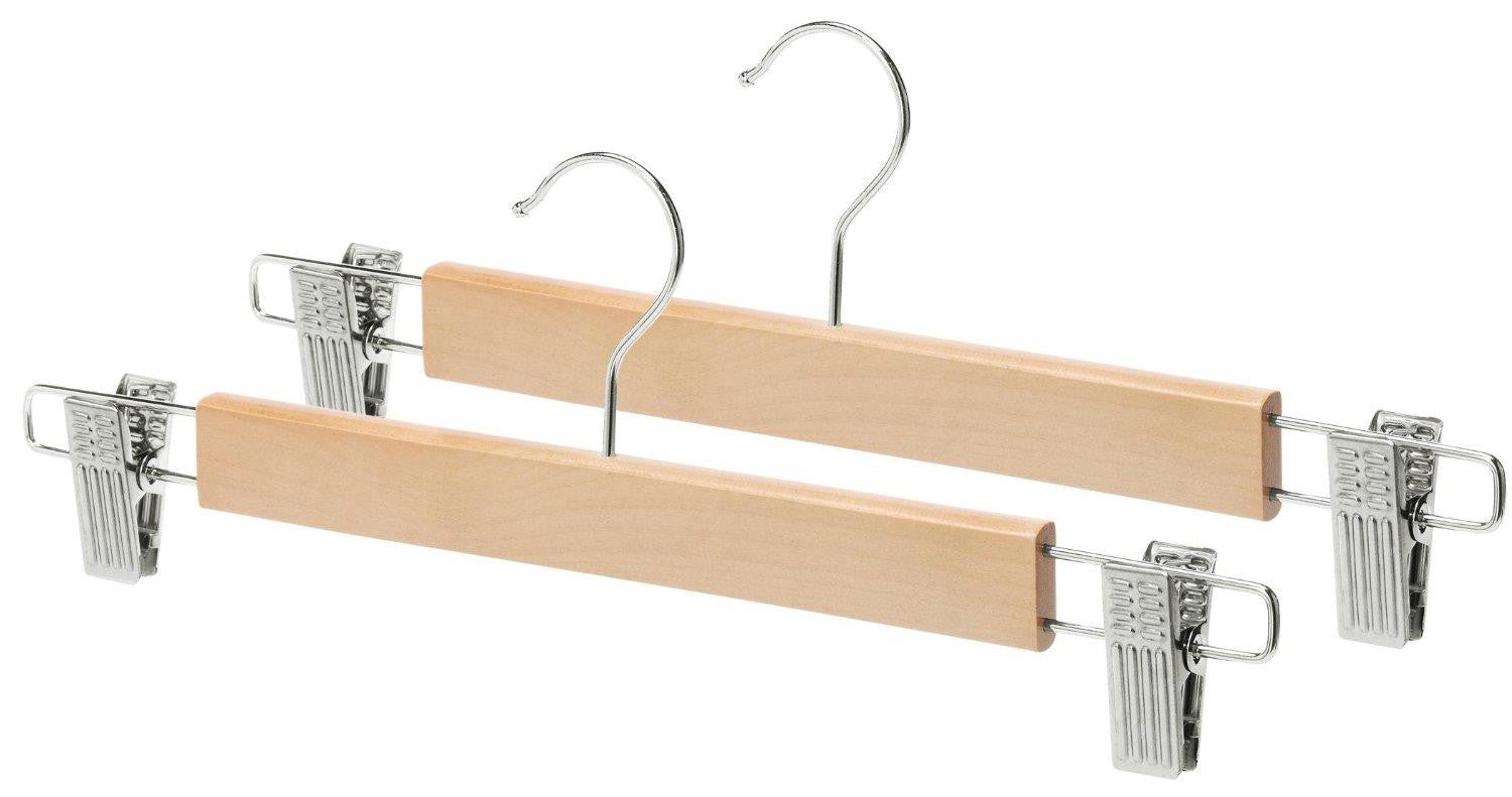 Whitmor Wood Hanger Skirt Set of 2