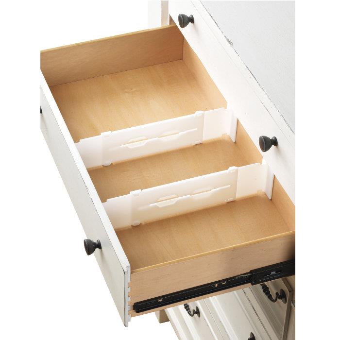Whitmor Adjustable Drawer Divider Organizer