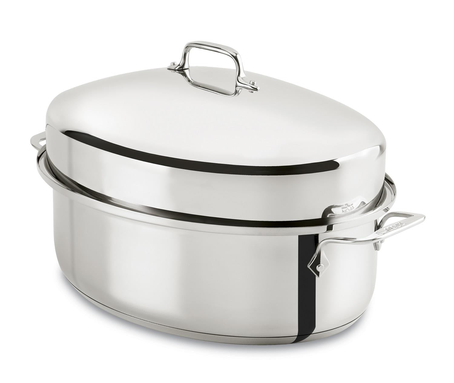 all-clad oval roaster with lid, 10qt