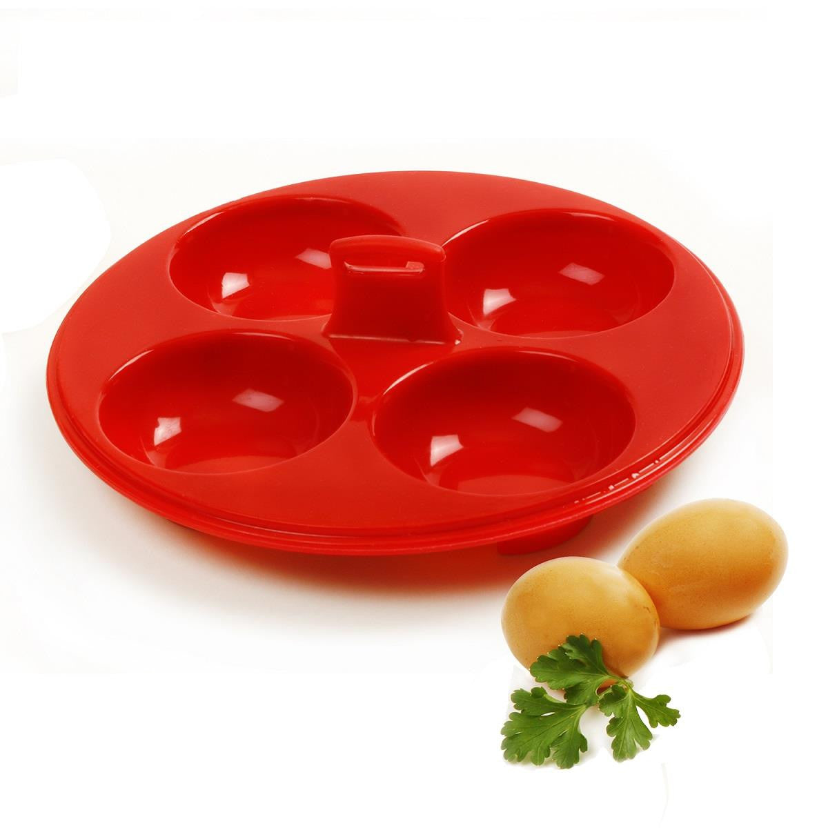 Norpro red Silicone 4 Egg Egg Poacher