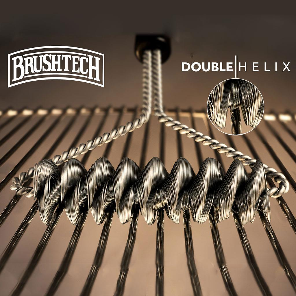 "Brushtech Double Helix Bristle Free 16"" BBQ Brush"