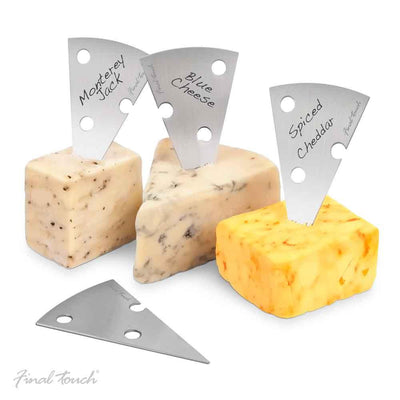 Final Touch Cheese Markers, Set of 4