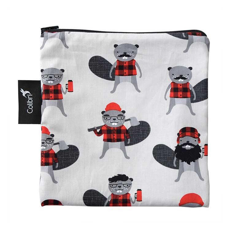 Colibri Reusable Large Snack Bags, Beavers