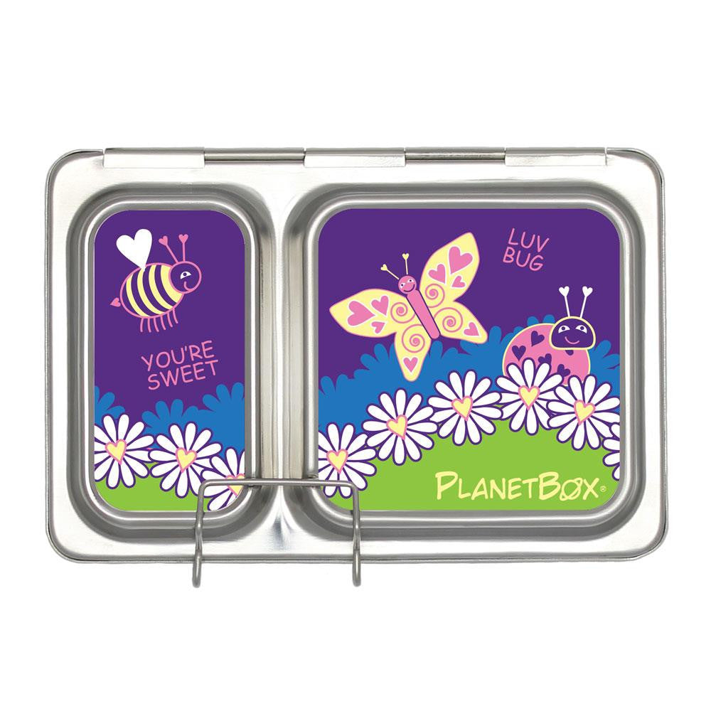 PlanetBox Shuttle Lunch Box Magnets, Ladybug