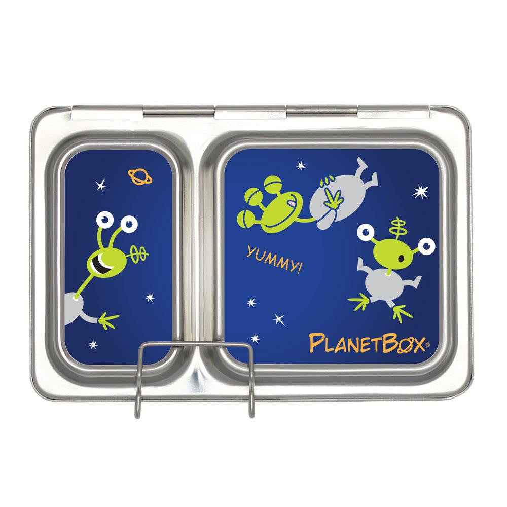 PlanetBox Shuttle Lunch Box Aliens Magnets