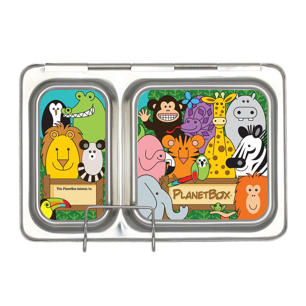 PlanetBox Shuttle Lunch Box Magnets, Wild Animals