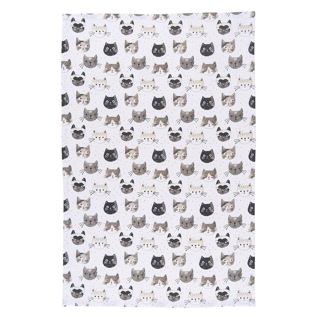 Now Designs Cats Meow Cotton Tea Towel