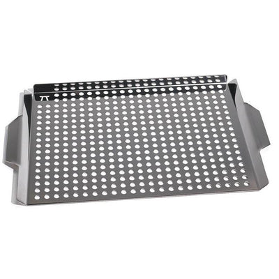 Outset Large Stainless Steel Rectangular Grill Grid with Handles