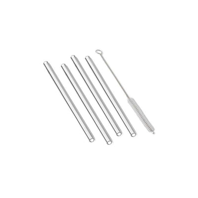 Outset Glass Reusable Drinking Straws Set of 4, straight