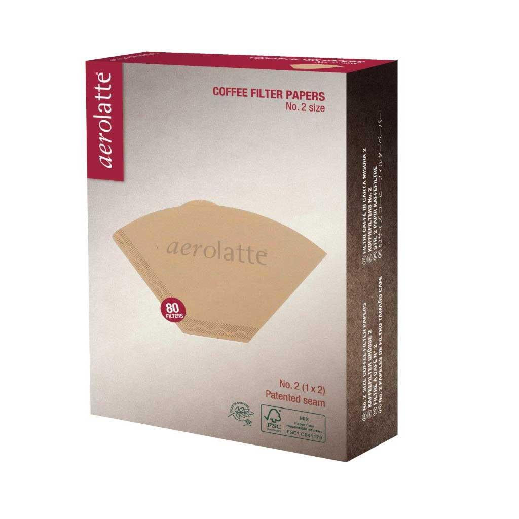 Aerolatte Paper Cone Coffee Filters, Pack 80