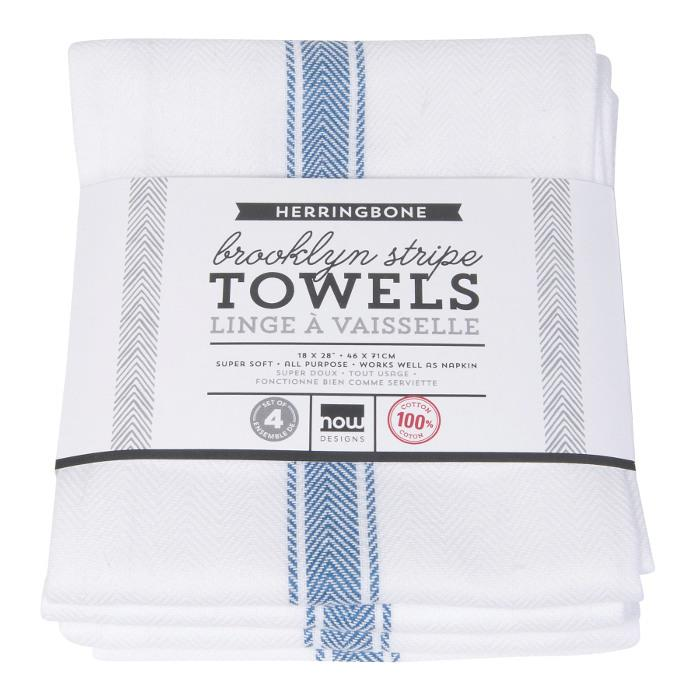Now Designs Brooklyn Dish Towel, Delft