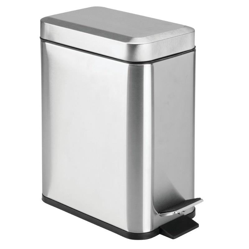 InterDesign Rectangle Step Can, Silver