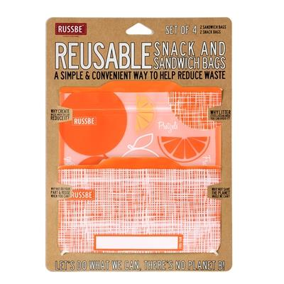 Russbe Snack & Sandwich Bags, Orange