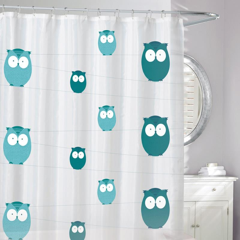 Moda at Home Eco Shower Curtain, Bright Eyes