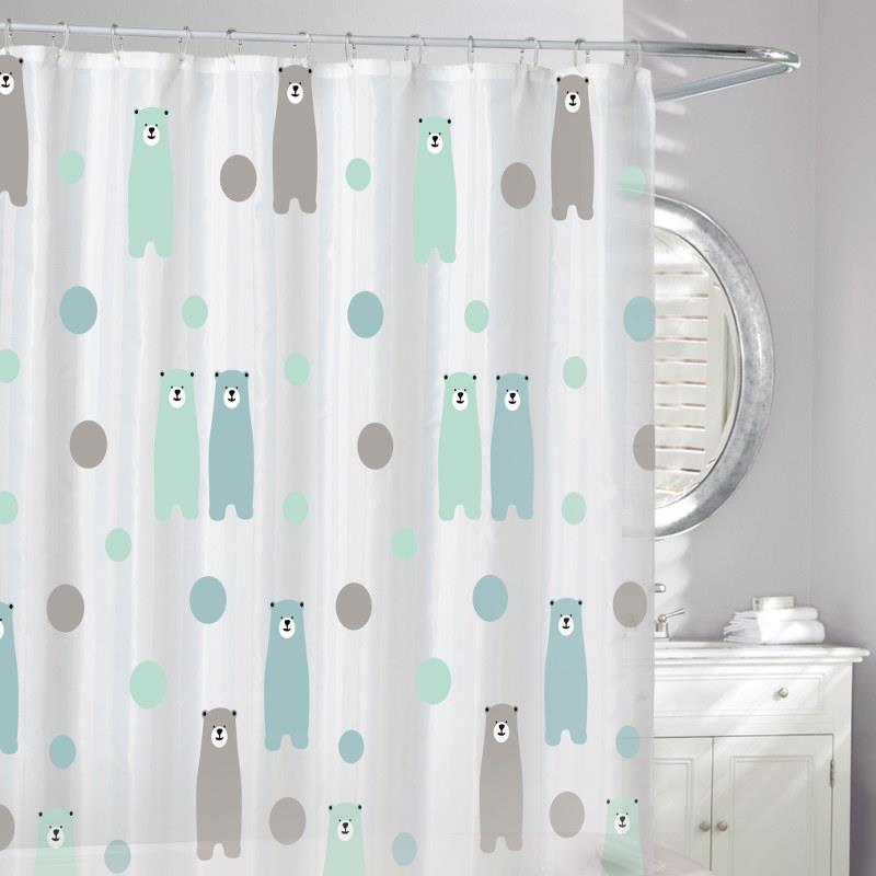 Moda at Home ECO Shower Curtain, Happy Bears