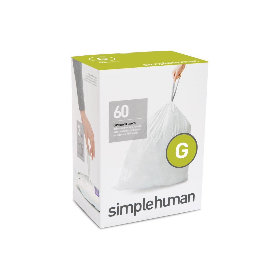 SImplehuman Code G Custom Fit Waste Liner, 30L