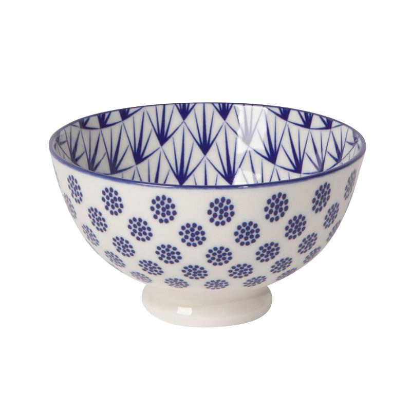 Now Designs Blue Dots Stamped Bowl