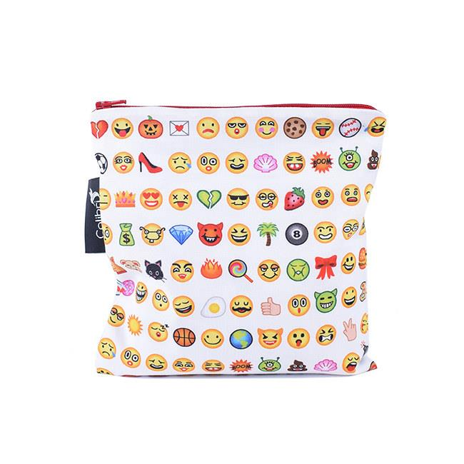 Colibri Reusable Emoji Snack Bag, Large
