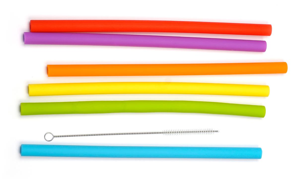 RSVP Silicone Smoothie Straws Set of 6