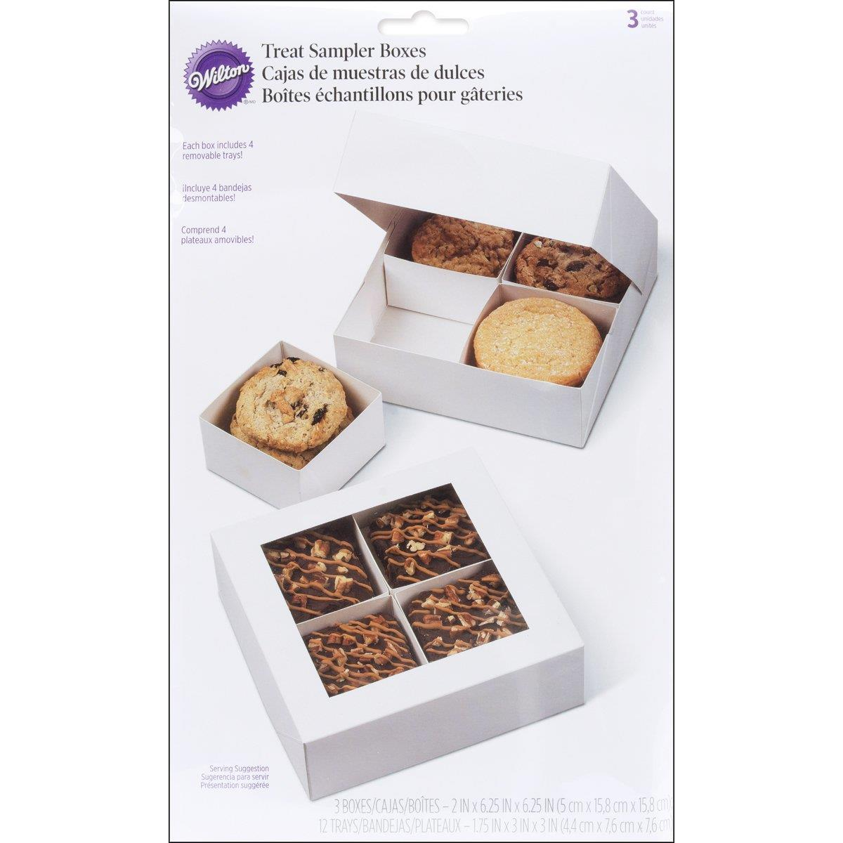 Square Wilton Treat Sampler Box, set of 3
