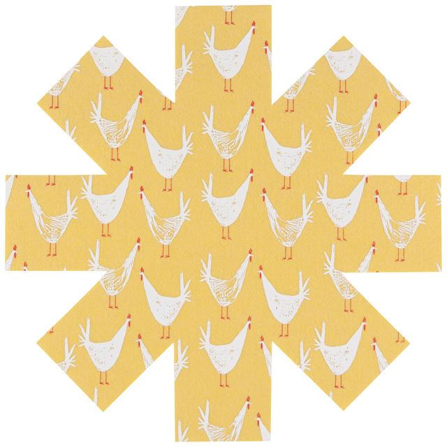 Now Designs Pan Protector Chicken Scratch Set of 3