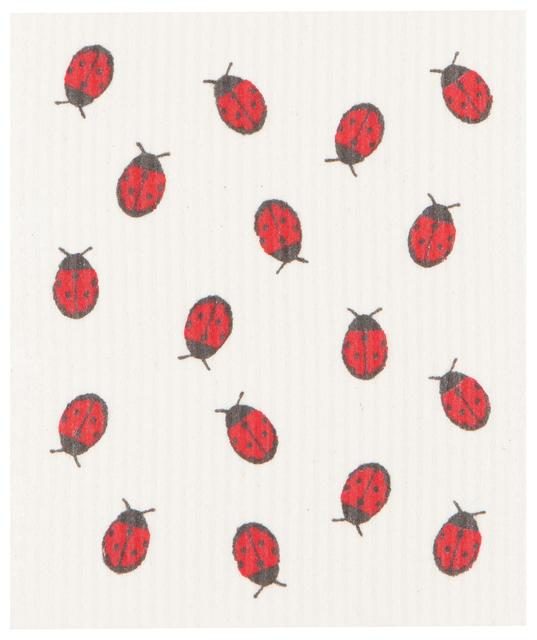 Now Designs Swedish Dish Cloth Fly Away Ladybug