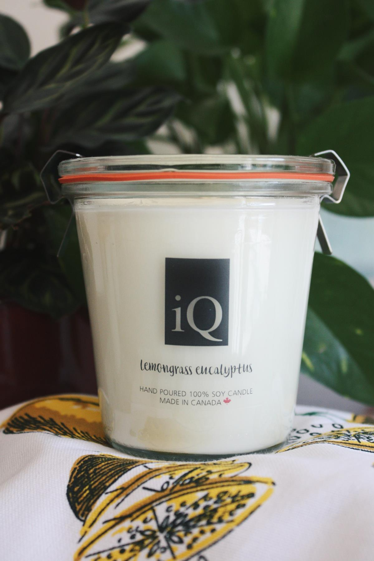 Candle iQ 7oz Lemongrass Eucalyptus