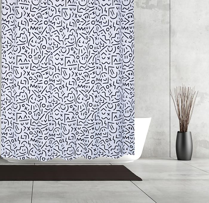 Moda at Home Shower Curtain - Symbols