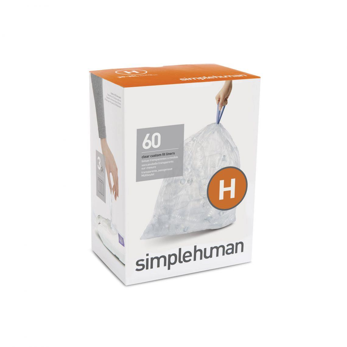 Simplehuman Code H Custom Fit Recycling Liner, 30-35L