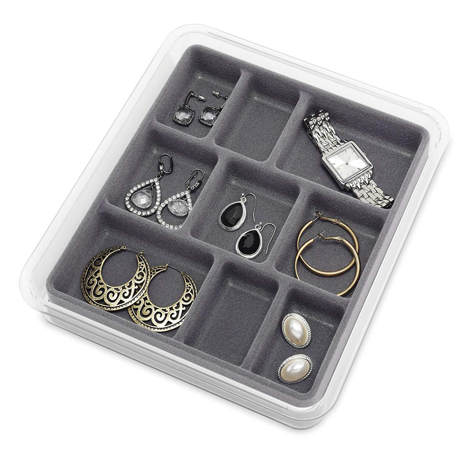 Whitmor 9-Section Stackable Jewelry Tray