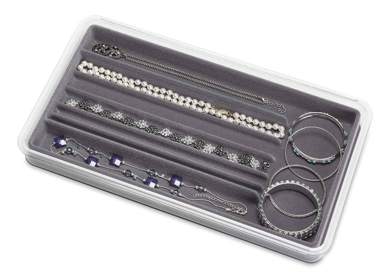 Whitmor 7-Section Stackable Jewelry Tray