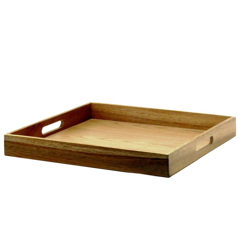 Natural Living Acacia Serving Tray, Square