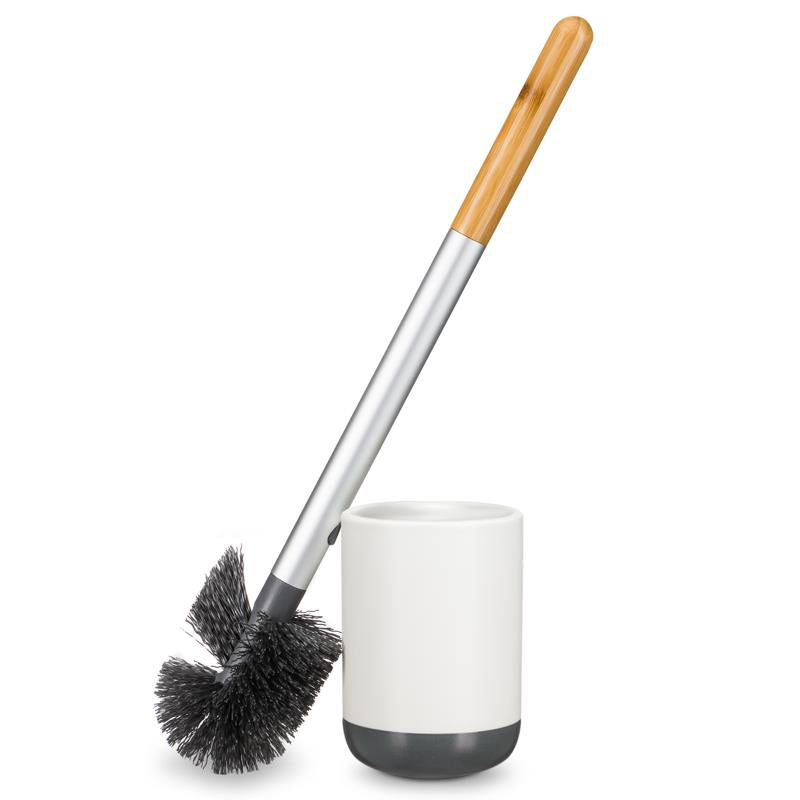 Full Circle Toilet Brush with Ceramic Holder