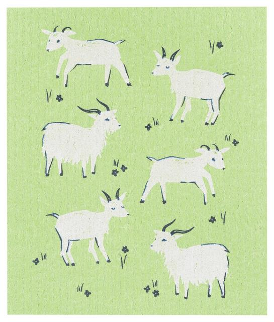 Now Designs Swedish Dish Cloth Goats