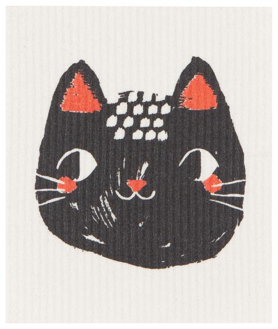 Now Designs Swedish Dish Cloth Meow Meow