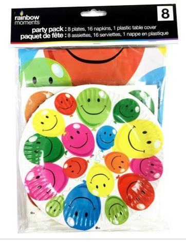 Happy Balloon Rainbow Party Kit
