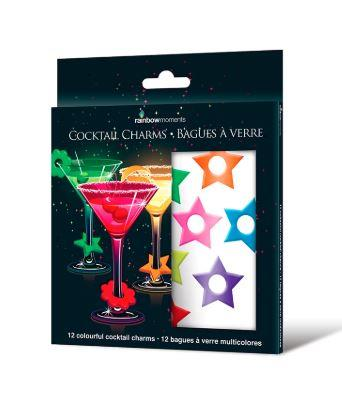 Gloco Accents Rainbow Cocktail Star Charms, Pack 20