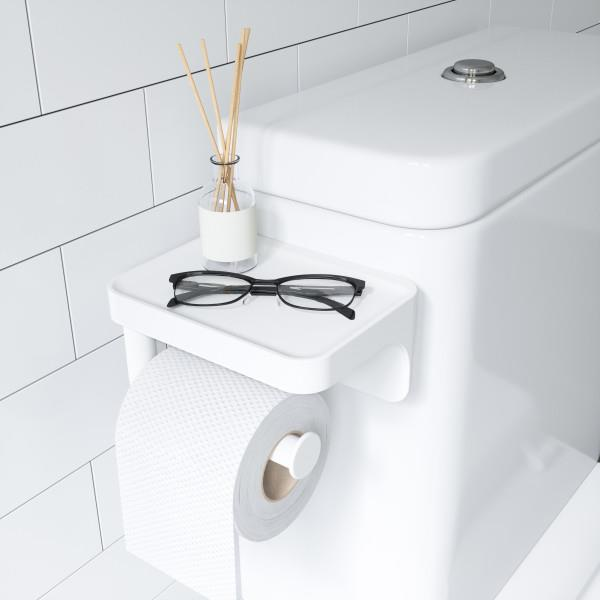 Umbra Flex Sure-Lock Toilet Paper Holder & Shelf - White