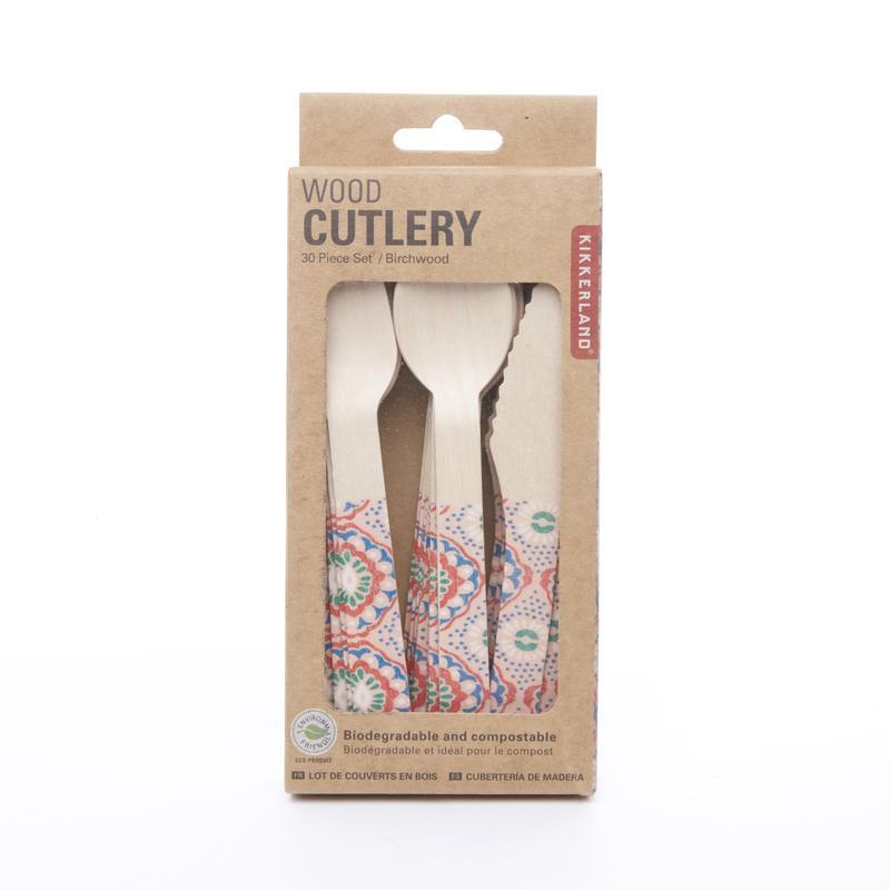 Kikkerland Disposable Wood Cutlery